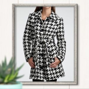 Charlotte Russe Houndstooth Pea Coat Size XS